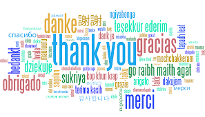 Thank you very much, Merci beaucoup, Vielen Dank. Dank je wel, Webale nyo, Apwoyo matek, Grazie, Gracias, Asante sana