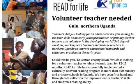 Teaching opportunity.... in Gulu. Is this you? Do you know someone who would love a teaching adventure?